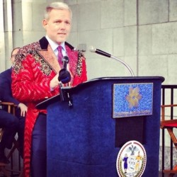 Van Bramer at the announcement of a new arts district in Astoria