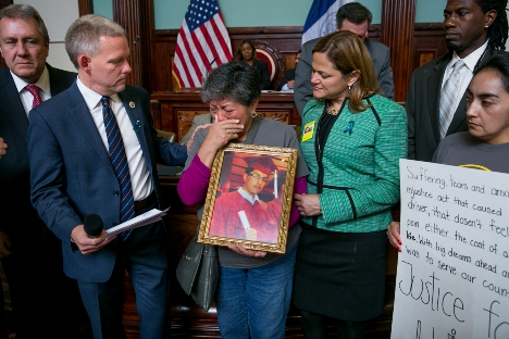 Van Bramer, Maribel Egipciaco , Melissa Mark Viverito (Source: Bill Alatriste)