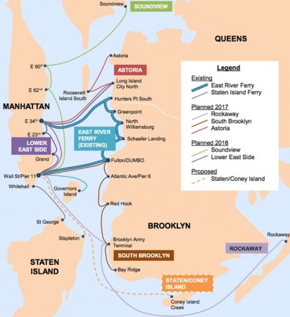 East river ferry service map