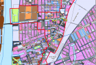 Red line: Core area for rezoning