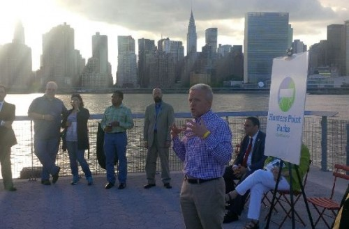 Van Bramer with the Hunters Point Parks Conservancy