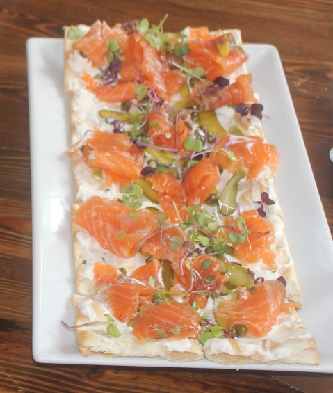 Smoked Salmon Flat Bread