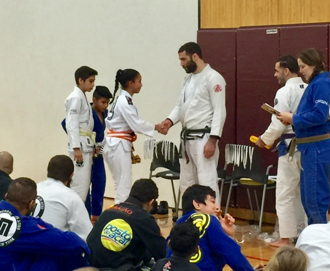 Belt promotion with Professor Murilo Santana