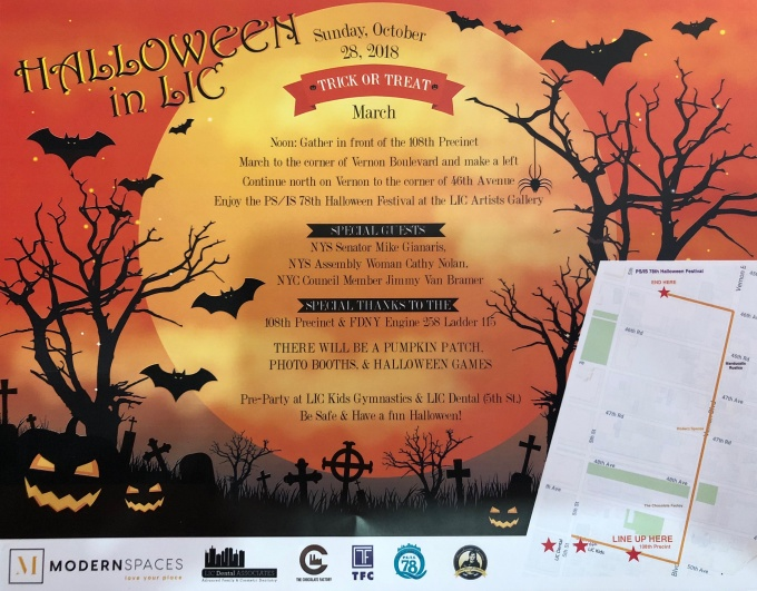 Halloween in LIC 2018 flyer